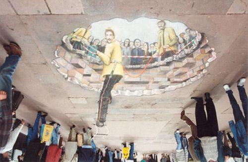 Niesamowity street 55+ Sztuka 3D Guerilla Marketing partyzancki Przykłady Marketing Zdjęcie