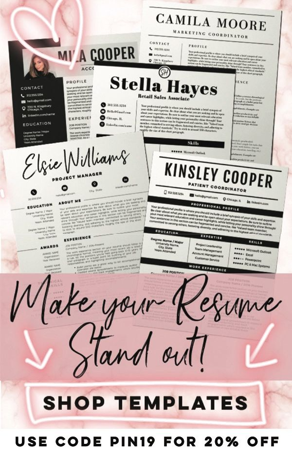 Make Your Resume Stand Out In 2019 Shop Templates