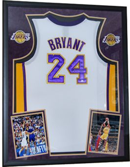Framed jersey of future Hall of Famer #KobeBryant of the #LALakers