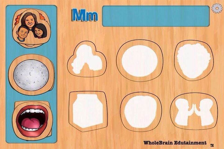 """From the """"M"""" puzzle of our children's alphabet puzzle app.  Color to line art mode.  3 mode options in the Pro Version."""