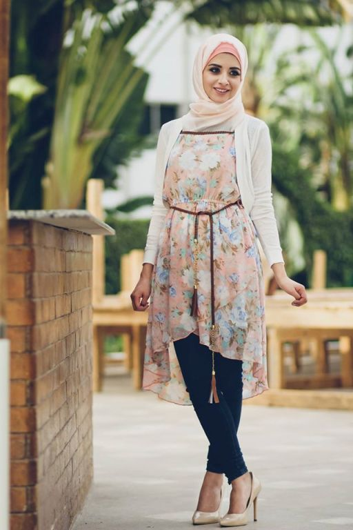 Pinned via Nuriyah O. Martinez | Need looser trousers though.. beautiful Egyptian models Delicate hijab designs for women http://www.justtrendygirls.com/delicate-hijab-designs-for-women/