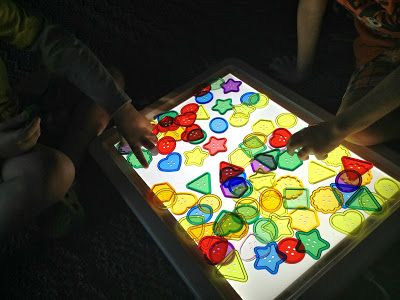 The BEST light table resource on the internet!   Light Tables, Light Panels, Light boxes, glow in the dark play, natural light play,  etc  -Collaborative board with 35+ bloggers- Thousands of fun, unique, educational, and therapeutic light play ideas!!!