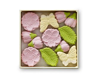 sculpted japanese sugar sweets. beautifully spring!