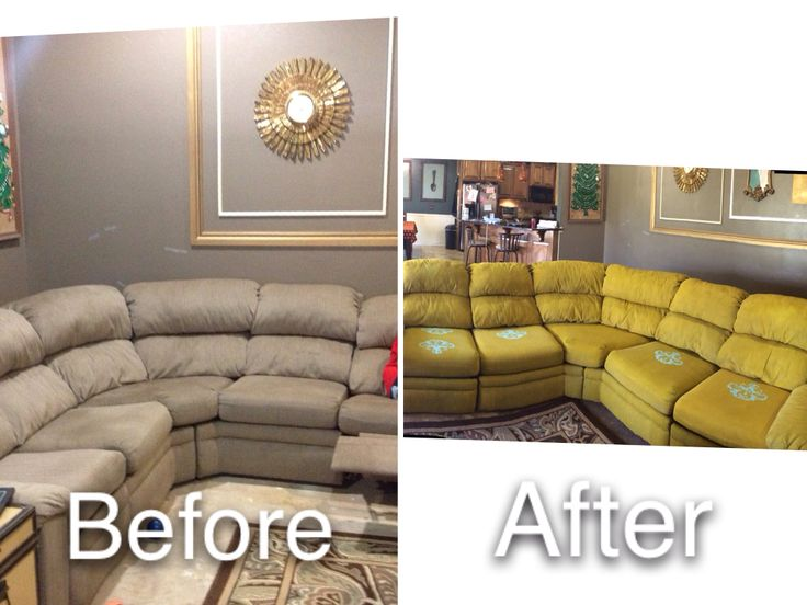 Painted my couch with plain wall paint