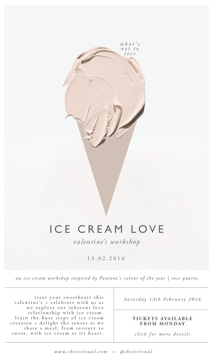 ICE CREAM LOVE WORKSHOP Digital Poster | design by SHE IS VISUAL                                                                                                                                                      More