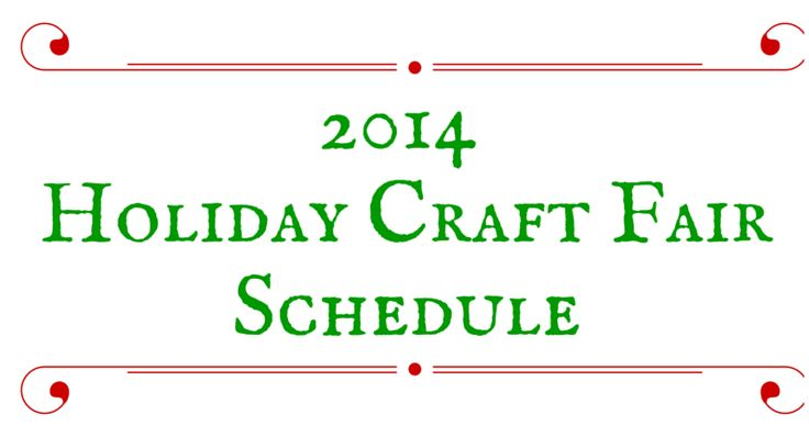 Holiday Craft Fair 2014 Schedule - where to shop for #PulpSushi #jewelry in person in the #HudsonValley #NewYork  #handmade #timelesstrend #accessories