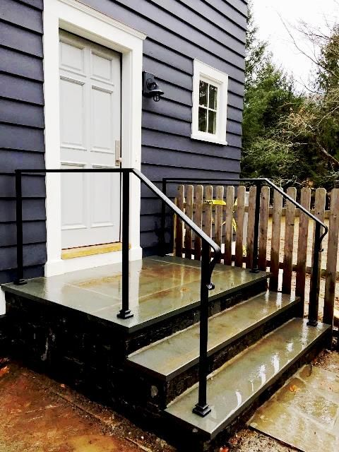 Simple Wrought Iron Handrail Railings Outdoor Outdoor | Outdoor Stairs Near Me