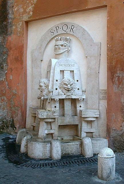Fontana degli artisti. Via Margutta, Roma.