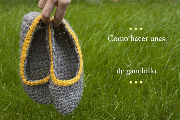 Video tutorial de cómo hacer unas zapatillas de ganchillo fáciles y calentitas | Crocheted slippers how to