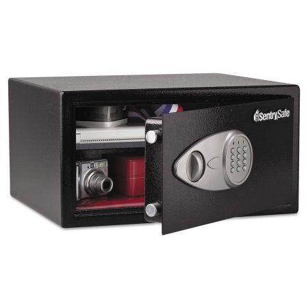 Sentry Safe Electronic Lock Security Safe, 1.0 ft3, 16 15/16w x 14 9/16d x 8 7/8h, Black