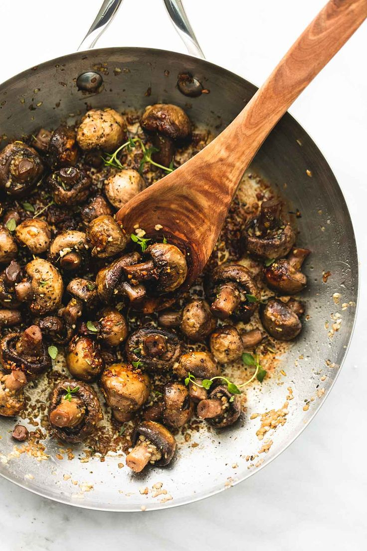Quick and easy 15-minute sautéed garlic butter mushrooms are bursting with flavor and make the perfect side dish or appetizer for any dinner recipe.