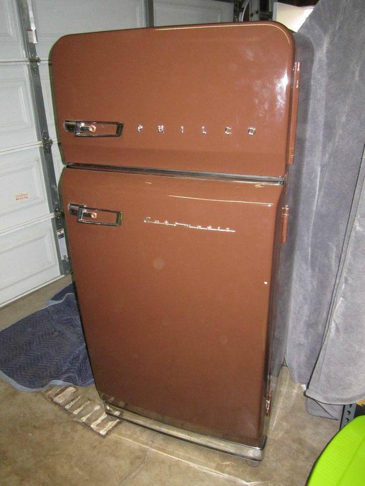 Vintage Mid Century Modern Philco Automatic Refrigerator