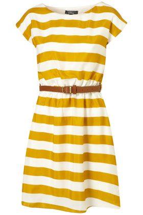 stripe dress for spring.