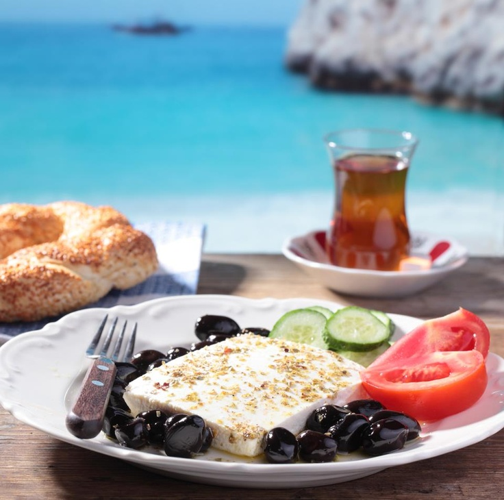 Turkish Breakfast! simit çay peynir perfect