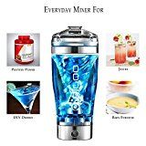 The Worlds Best Electric Blender Protein Shaker Bottle Evolution 450ml/16oz Free Portable Vortex Mixer with Technology and Integrated Protein Storage Container. BPA-Free Reviews