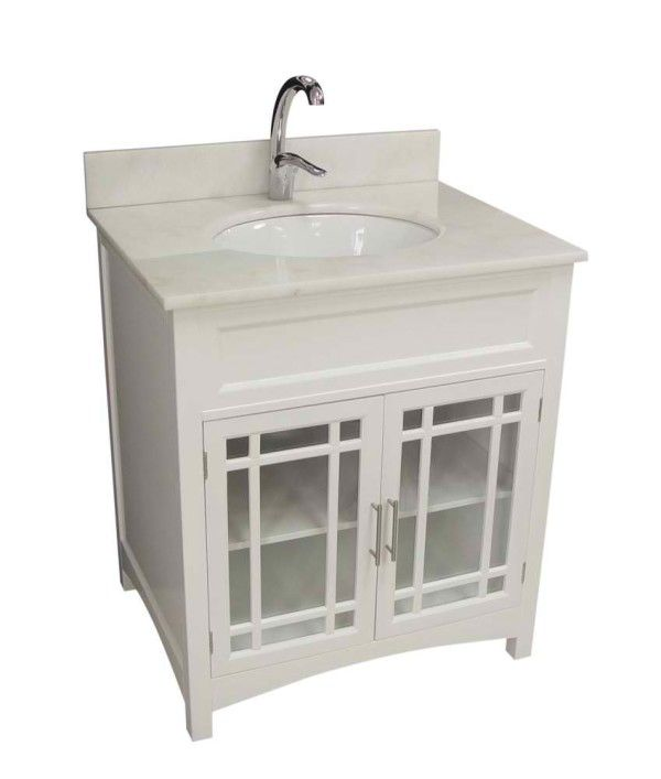 Furniture Artistic Small Bathroom Vanities With Sink Using Oval Undermount Basin And Chrome Pull Down Faucet