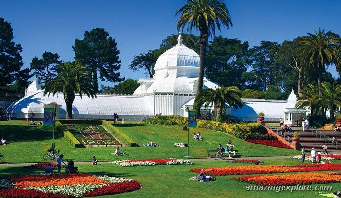 Golden Gate Park Conservatory of Flowers, Califonia Beach Best San Francisco Attractions   AmazingExplore Things to Do in San Francisco