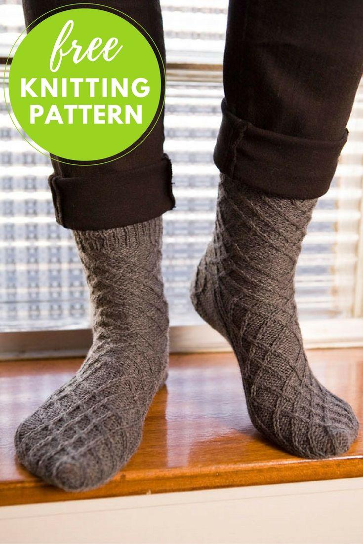 Best 48 Sock Knitting Patterns images on Pinterest   Dot patterns ...