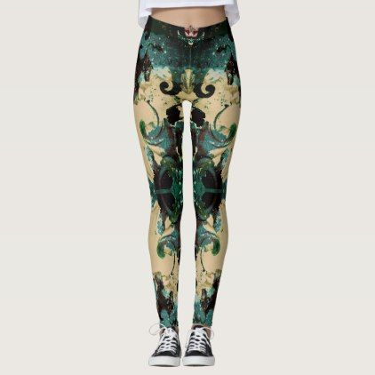 Navy and Beige Leggings - pattern sample design template diy cyo customize