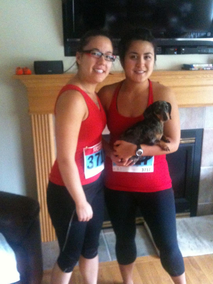 Amazing sisters that kicked some butt with running a 1/2 marathon.