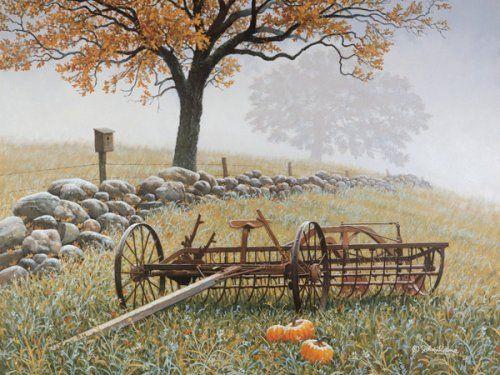 Frosty Fields By John Sloane Art By John Sloane