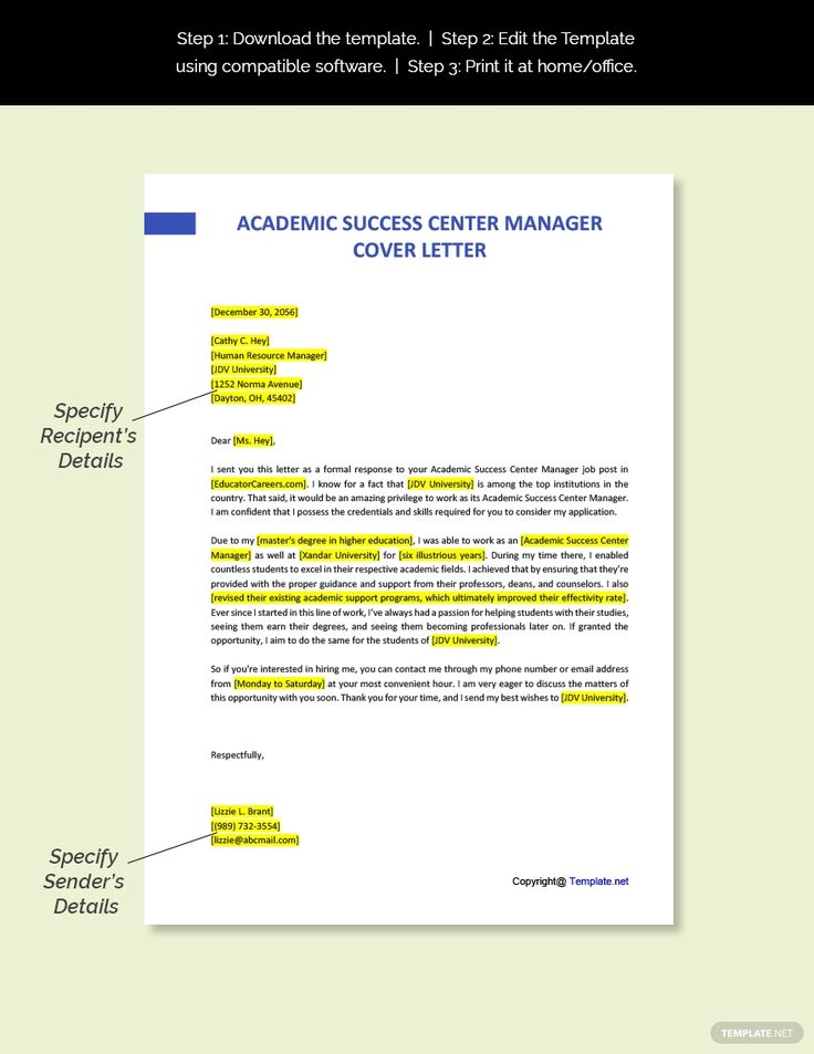 29++ It manager cover letter doc trends