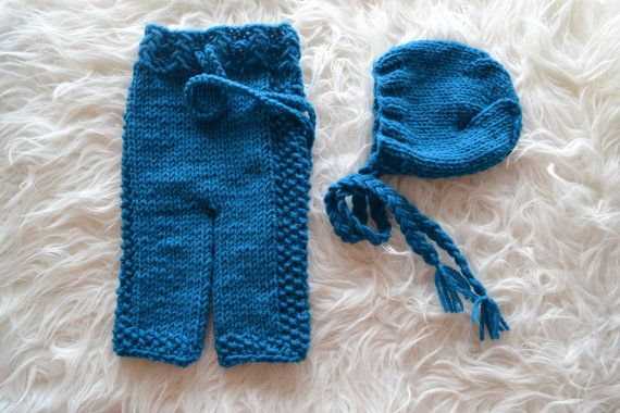 Newborn Set Baby Set Newborn Long Pants Newborn by knitbabyclothes, $37.00