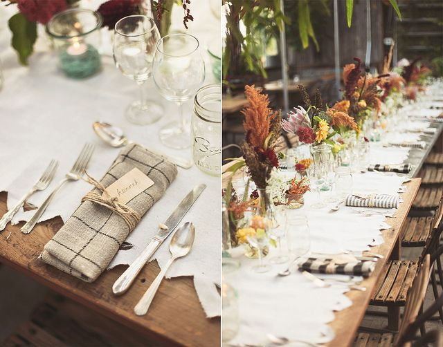 such a simple fall table: Farms Wedding, Wedding Tables, Farms Inspiration, Tables Sets, Fall Dinners, Fall Tables, Rustic Fall, Farms Tables, Fall Farms