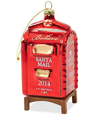 "Yes Virginia Mailbox Christmas Ornament ""yes Virginia, there is a santa claus"""