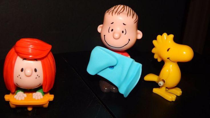 McDonald's Toy The PEANUTS Movie 2015 Linus, Peppermint Patty & Woodstock Lot #McDonalds