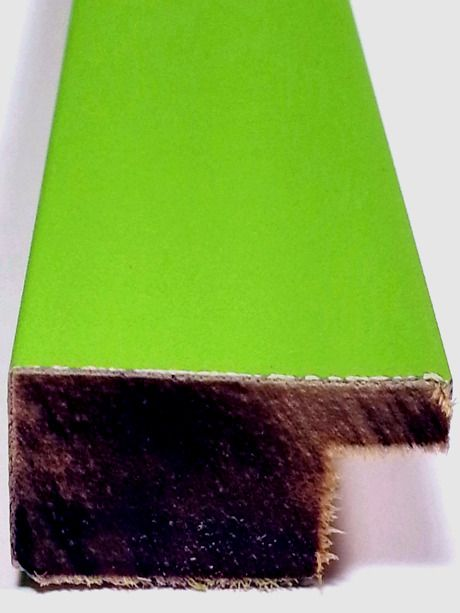 20 ft - Neon GREEN Wood Picture Frame Moulding Square Chalk Length Molding  #Intermol