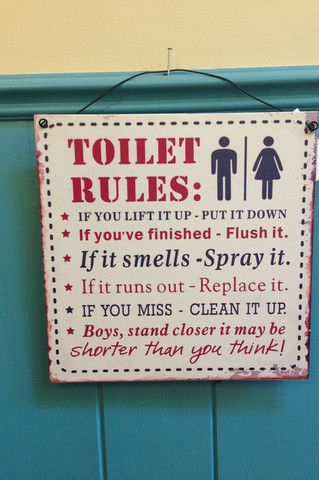Toilet Rules Plaque Sign £8.95