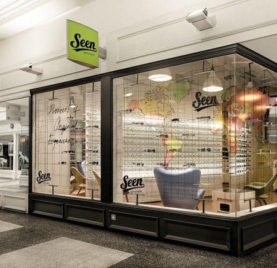 Office Shop: Seen Opticians, Manchester Interior Design, Branding And