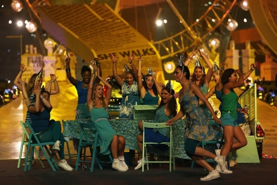 Artists perform during the Closing Ceremony on Day 16 of the London 2012 Olympic Games at Olympic Stadium on August 12, 2012 in London, England.