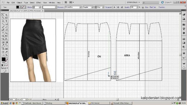 Model uygulamalı etek 29 / The model applied pattern skirt 29