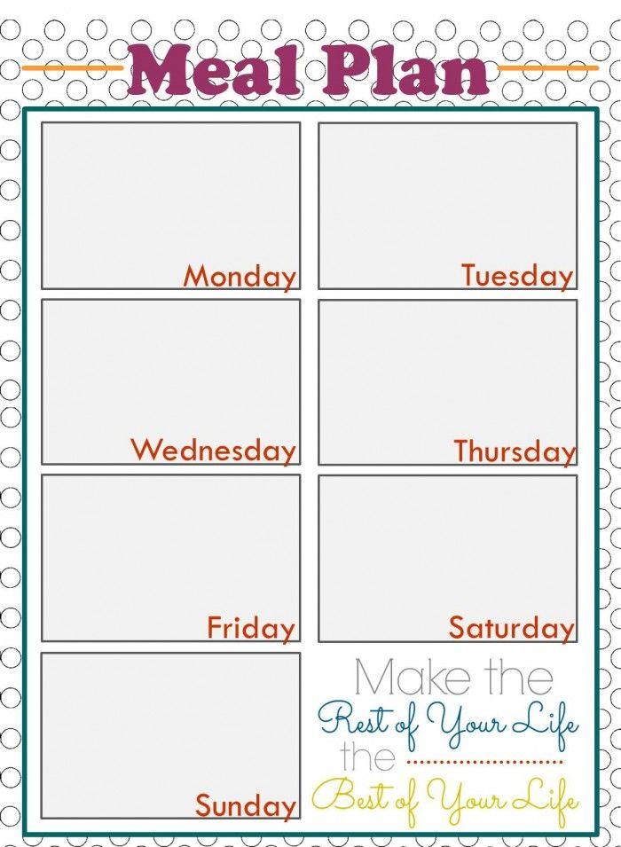 Weekly Meal Planning Printables | Planners, Weekly meals ...