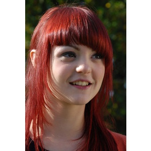 looove kathryn prescott. and i adore these bangs! and the color! all of it! haha