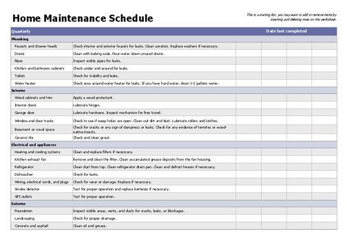 House maintenance list template templates pinterest for Punch list checklist