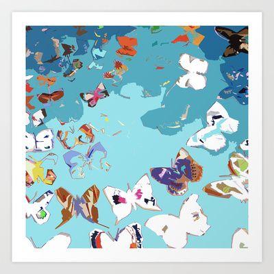 Butterflies Art Print by MonTyacke - $16.00