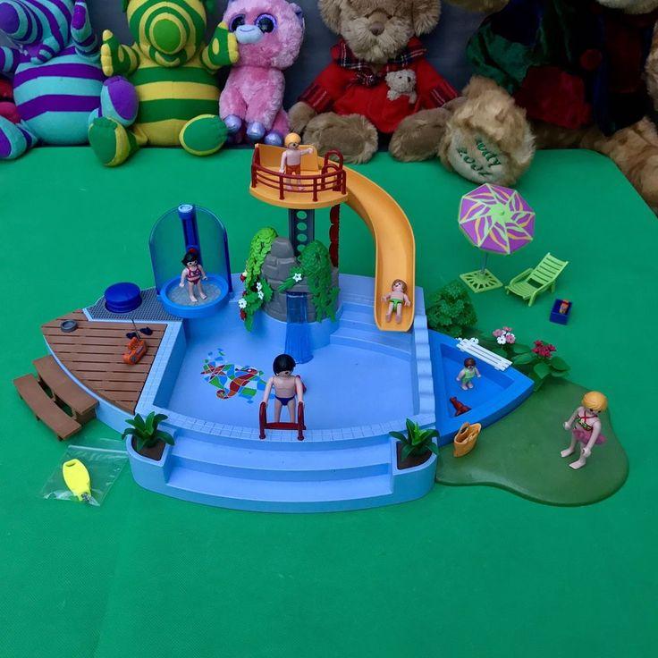 Les 25 meilleures id es de la cat gorie piscine playmobil for Playmobil 4858 piscine avec toboggan