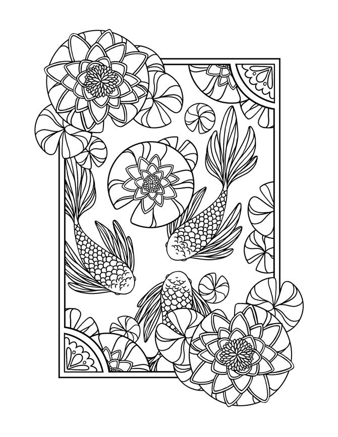 936 best ♋Adult Colouring~Under the Sea ~ Fish~Mermaids