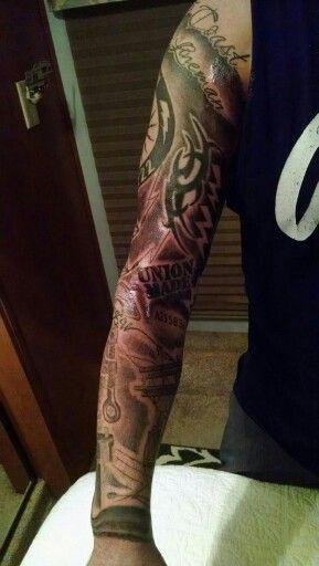 Tramp Lineman. Full sleeve.   LineWife   Lineman tattoo ...
