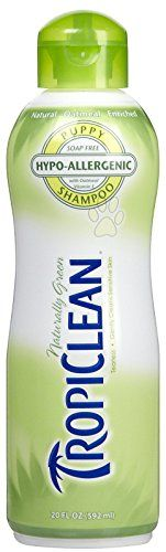 Tropiclean Hypo Allergenic Pet Shampoo, 20 Ounce  All Natural  70% Organic  Soap and Detergent Free  Green Packaging  For Cats and Dogs