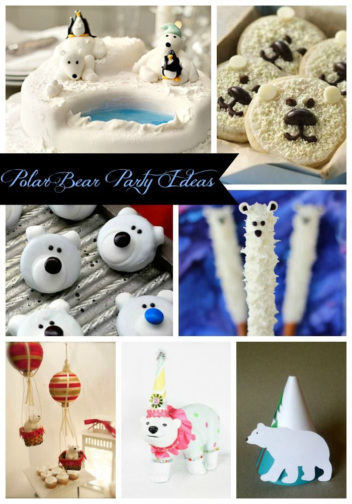 The Best Polar Bear Party Ideas-  Cute Idea for Earth day! Save the polar bears! B. Lovely Events