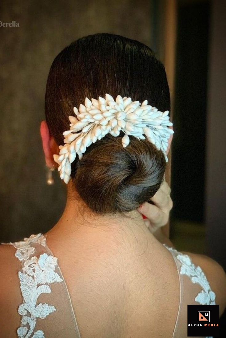 Tucked Chignon. Loose and Lovely Bridal Updo. Fairy tale Hairstyle. Soft, Curled Locks for ...