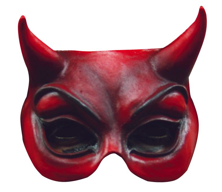 Mezza maschera diavolo adulto: Questa mezza maschera da diavolo per adulto è in lattice morbido. È rossa e un elastico consente di tenerla sul viso. Questo accessorio dipinto a mano è ideale per completare il vostro costume per... #halloween #maschere #halloweenmaschere