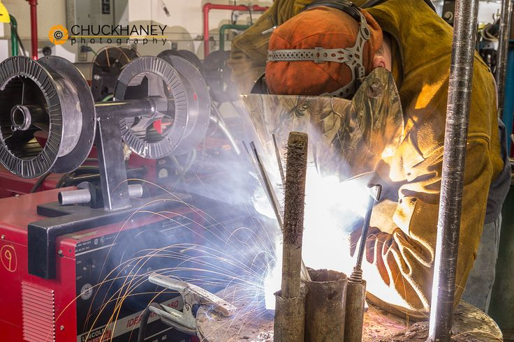 Welding student in the Apprenticeship Program at Northern Montana College in Havre. Chuck Haney