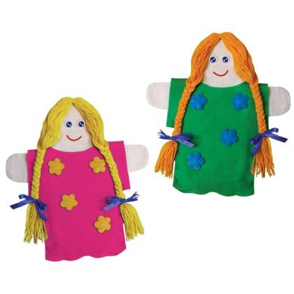 Cotton Dolly Hand Puppet - CleverPatch