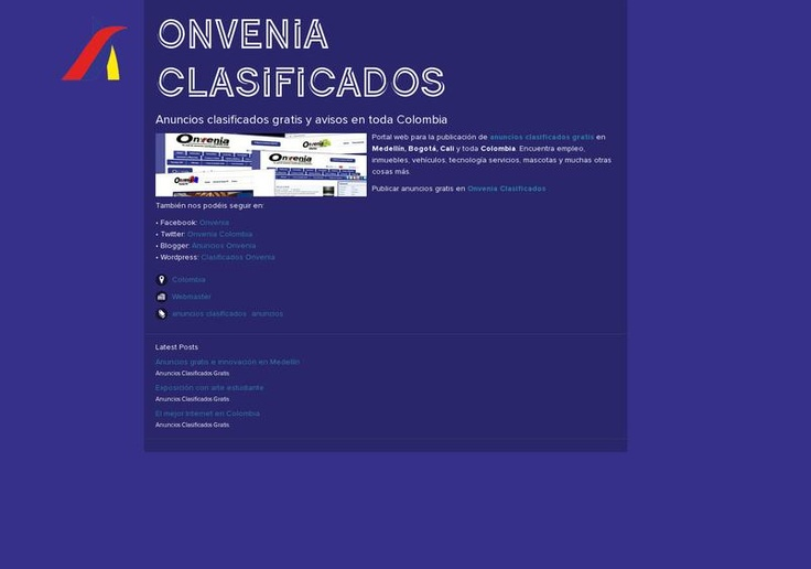 Onvenia Clasificados' page on about.me – http://about.me/onvenia