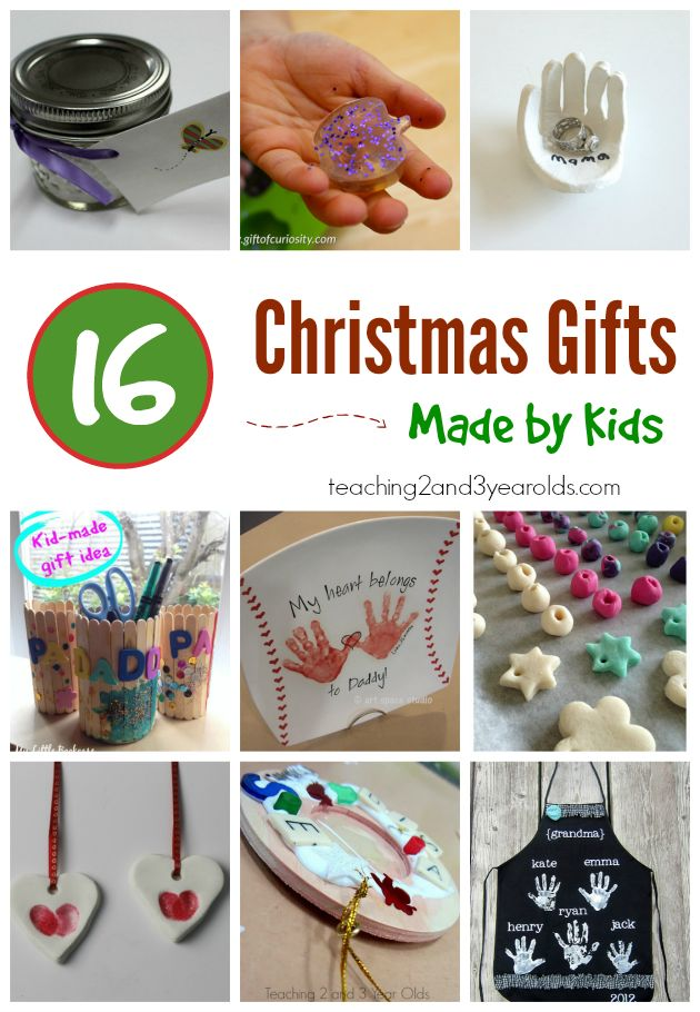 Easy Christmas gifts that toddlers and preschoolers can make - perfect keepsakes for someone special. From Teaching 2 and 3 Year Olds
